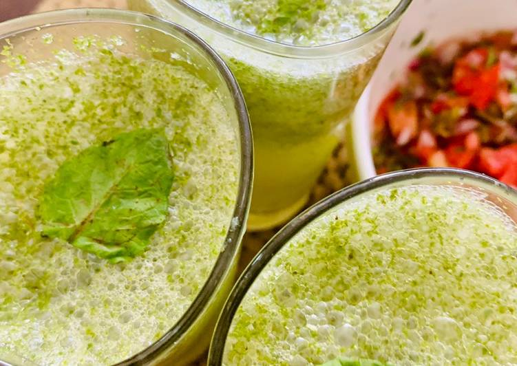 25 Minute How to Make Spring Cucumber mint cooler