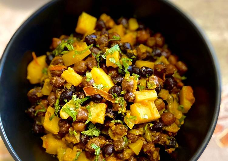 Kala Chana bhuna with potato #ramadan