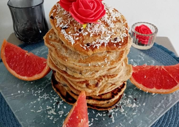 Recette Délicieux Pancakes aux pepites de chocolat