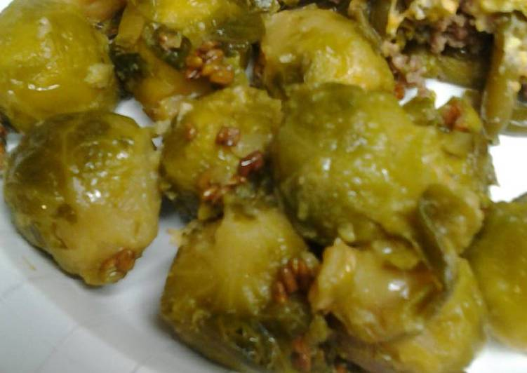 Brussel sprouts and fenugreek in butter