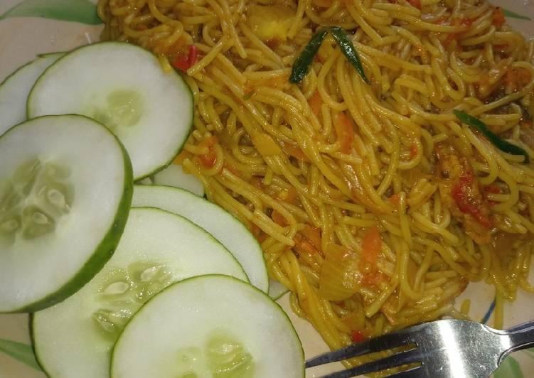 Vegan tuna spaghetti