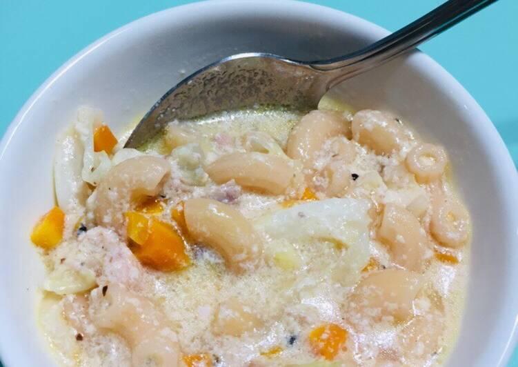 Simple Way to Make Perfect Macaroni soup. Filipino style 💕