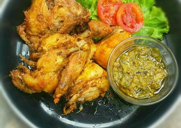 Ayam goreng presto sambel cabe ijo