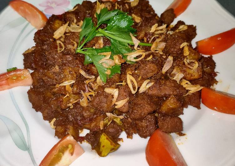 Rendang Daging Kentang Bumbu Instant Indofood