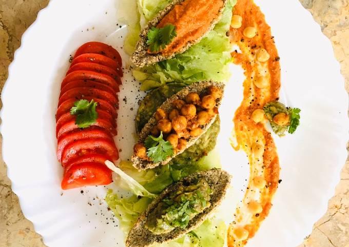 Vegan chick pea Nugget Boat #healthy #themechallenge