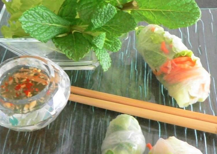 Comment Cuisiner Rouleaux de printemps aux crevettes bouquet