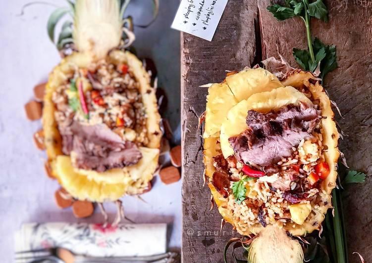 Nasi Goreng Nenas bersama Daging Salai  #phopbylinimohd #batch18