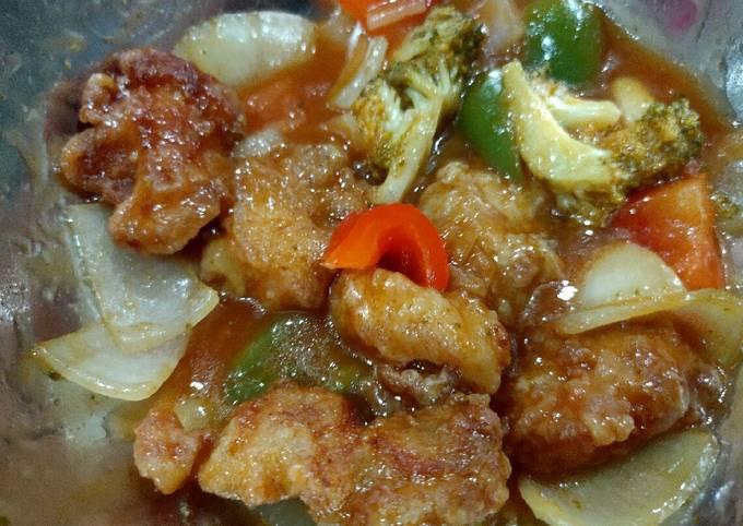 Ayam masam manis @ Sweet sour chicken