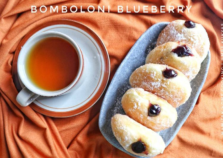 Resep Donat bomboloni blueberry ekonomis Anti Gagal