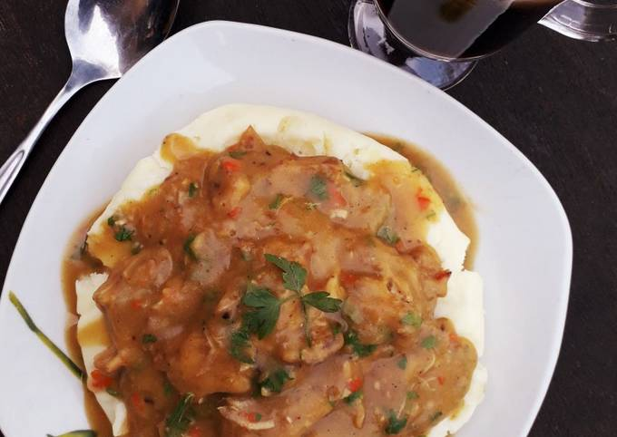 Recipe of Gordon Ramsay Piccata chicken sauce with mashed potatoes