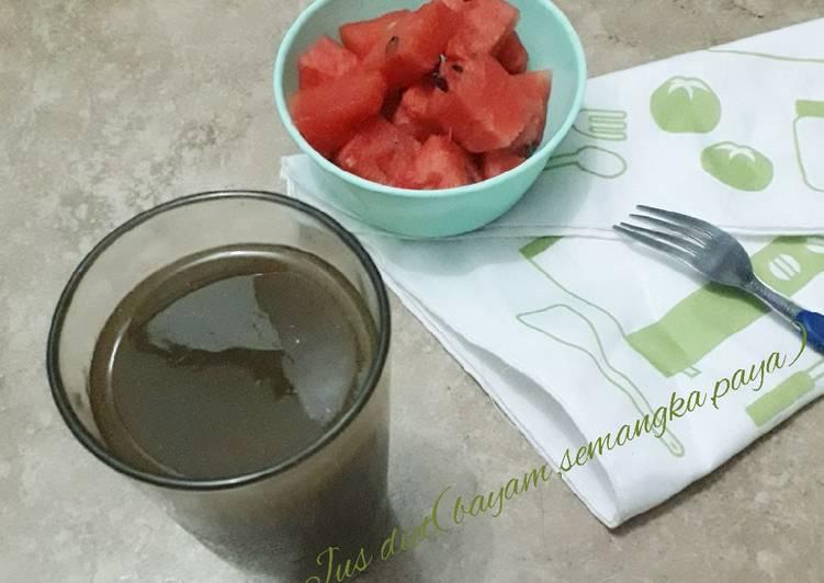 Jus diet(bayam.semangka.paya)