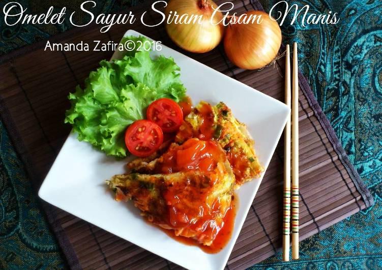 Omelet Sayur Siram Asam Manis