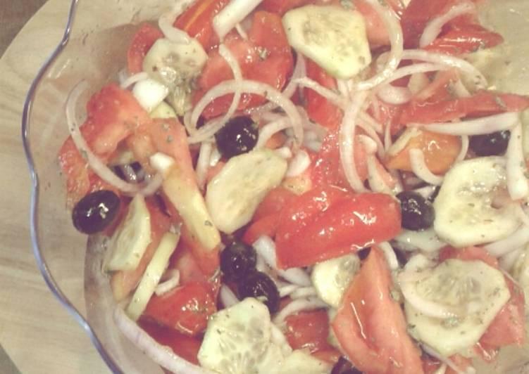 Insalatona di pomodori alla calabrese -tipo 1 (ricetta light)