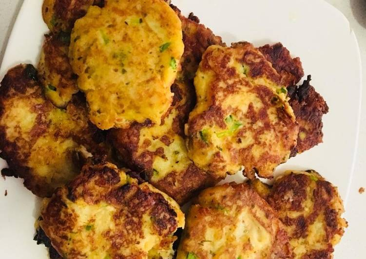 Easiest Way to Make Ultimate Left over mashed potato pancakes