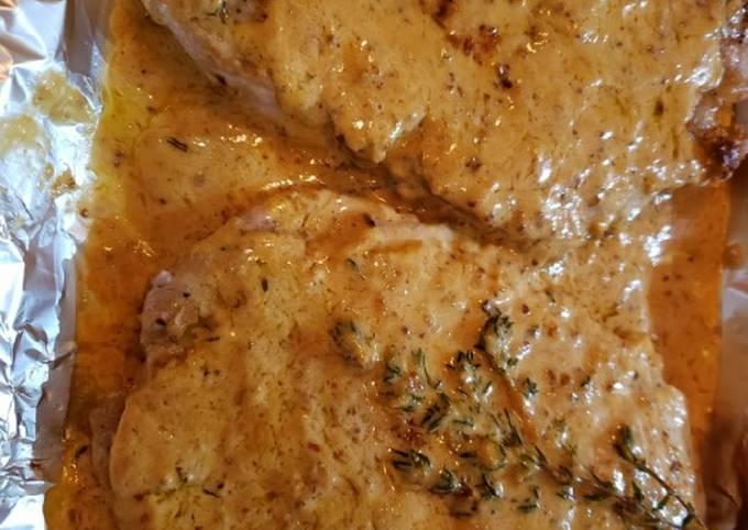 Dijon pork chop