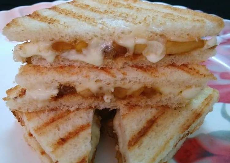 Easiest Way to Prepare Favorite Apple Raisin Bread Sandwich