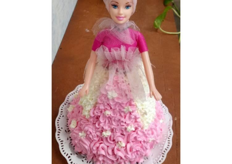 Barbie Cake Red Velvet - cookandrecipe.com