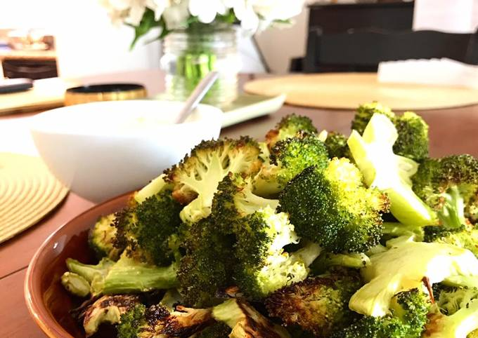 Roasted Broccoli (Family Fave Snack - Don't knock it 'til you try it!)