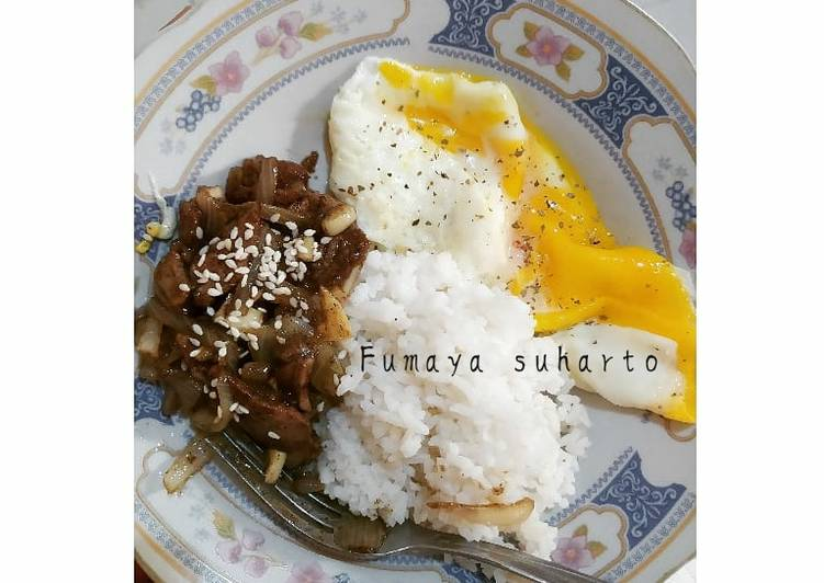Blackpepper Beef and Egg
