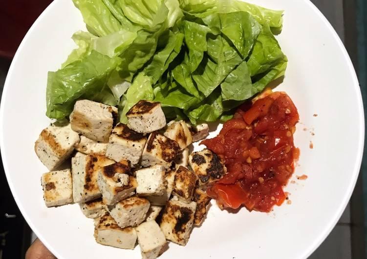 Salad tahu / Tofu (menu diet sehat)