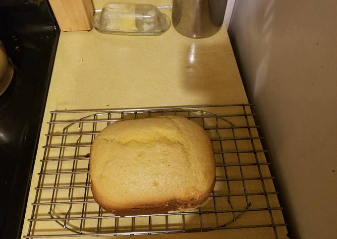 Sweet Corn Bread for Bread Machine