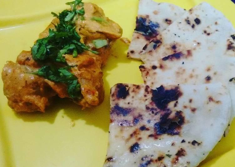 Chicken Tikka Masala with Garlic Naan bread