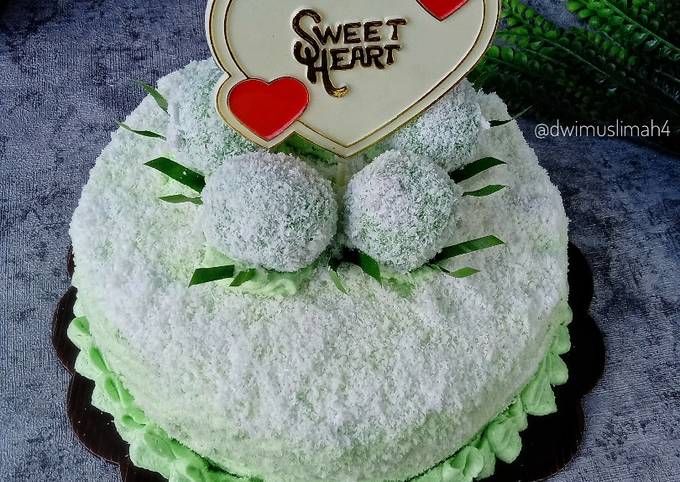 Resep Klepon Cake | Bolu Klepon Anti Gagal