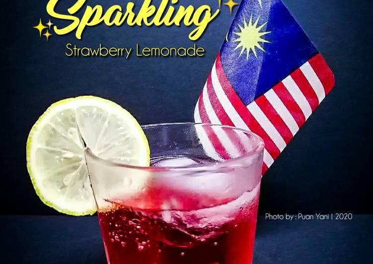 Sparkling Strawberry Lemonade - resepipouler.com