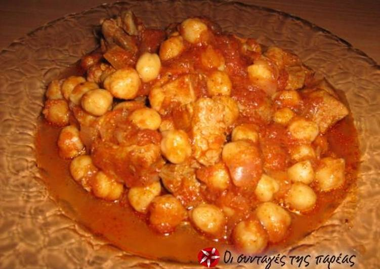 Foods That Make Your Mood Better Pork with chickpeas from Sfakia