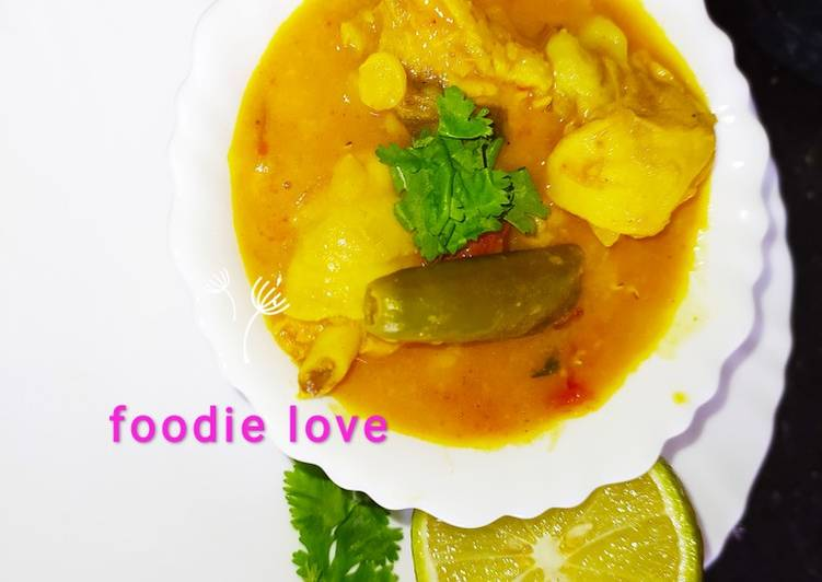Mixed chicken dal