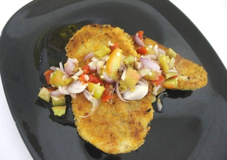 Resep Chicken Schnitzel Dabu Dabu Fusion Oleh Favor Kitchen Cookpad