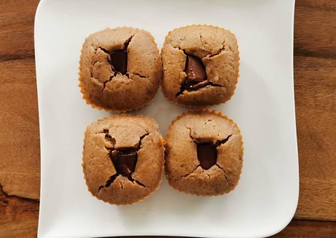 Muffin châtaigne cœur fondant chocolat 🌰🍫