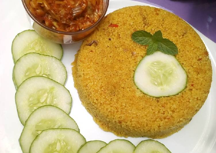 Recipe of Ultimate Fried couscous with cabbage sauce