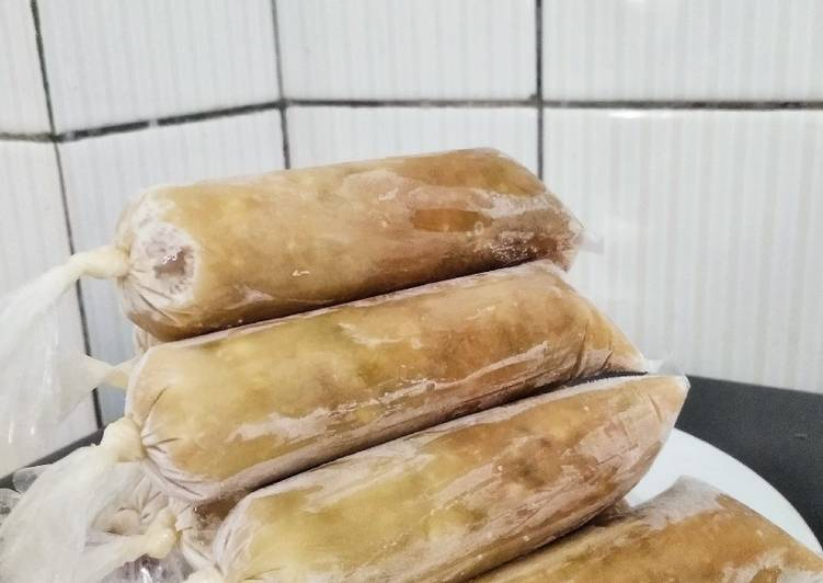 Es lilin kacang hijau (tanpa gula dan santan)