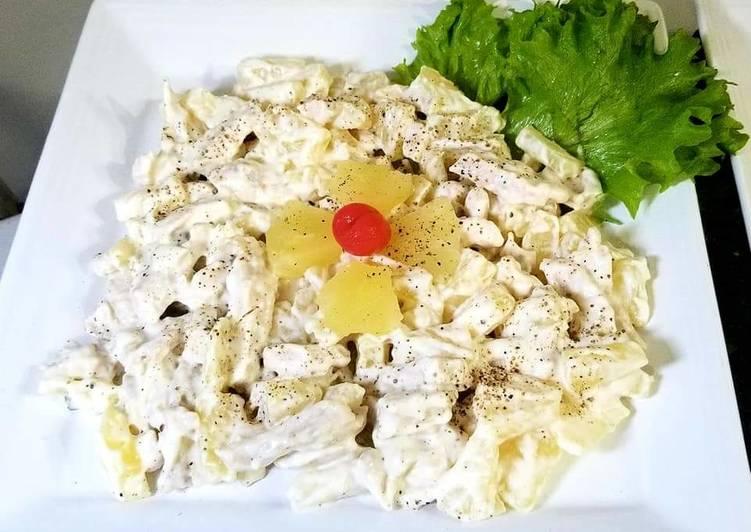 Pineapple chicken salad.    #ramadankitayari