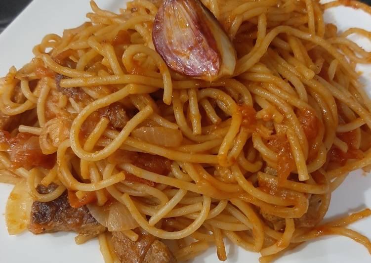 Spagettis légume et viande