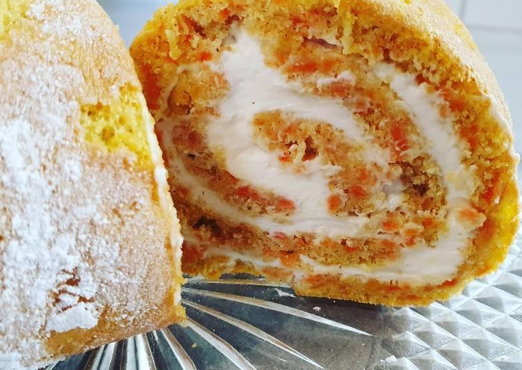 Gâteau roulé à la carotte