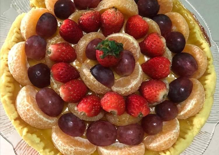 Resep: Berselera 25. Birthday Cake (Pie Susu Teflon Buah)
