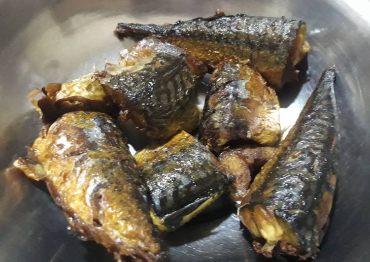 Friedmackerel fish