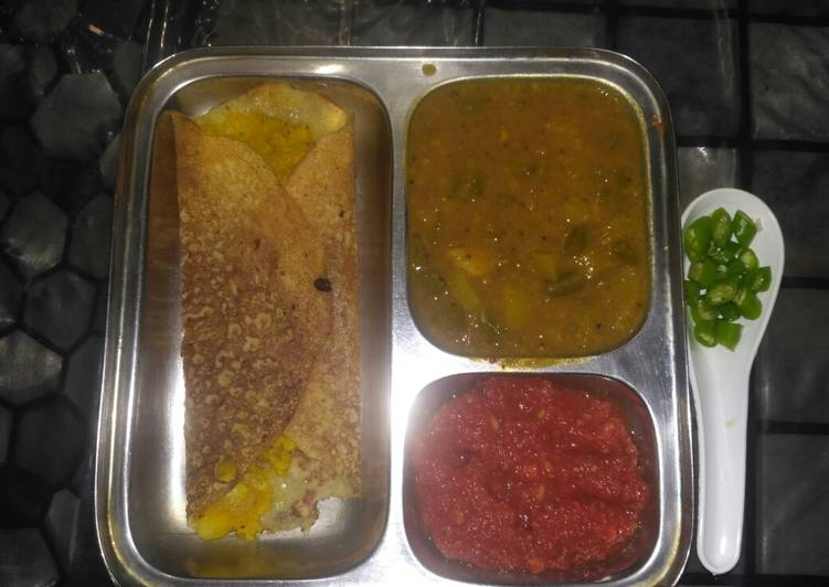 How to Make Delicious Masala Dosa with chutney