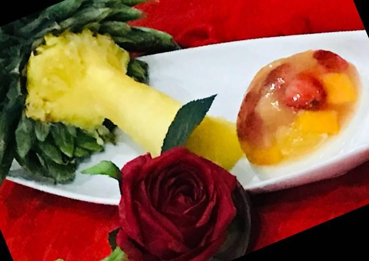 Whosayna's Fruit Jello Falooda Pudding