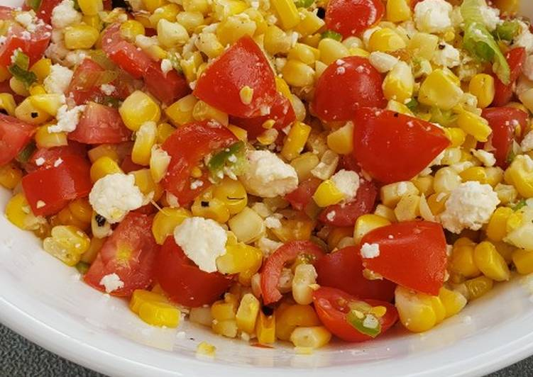Easiest Way to Make Delicious Grilled Summer Corn Salsa