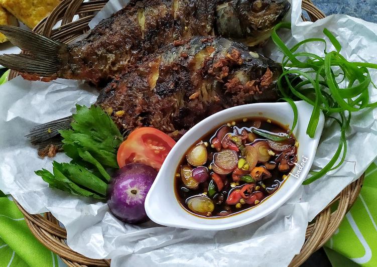 Resep Ikan Mas Goreng sambal kecap Yang Mudah Lezat