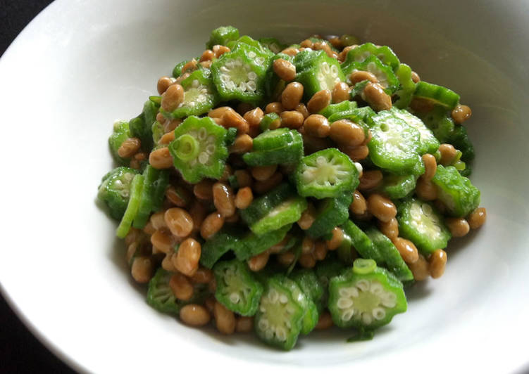 Recipe of Homemade Okra & Nattō