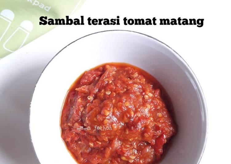 Sambal terasi tomat matang