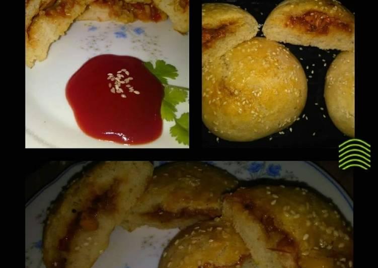 Chicken cheese veggie bun #Ramzan special