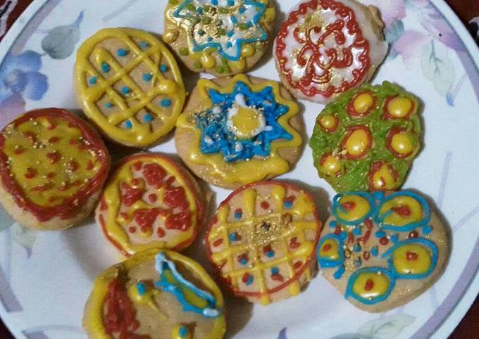 Easiest Way to Cook Tasty Baked Sugar Cookies with eggless Royal icing for Christmas
