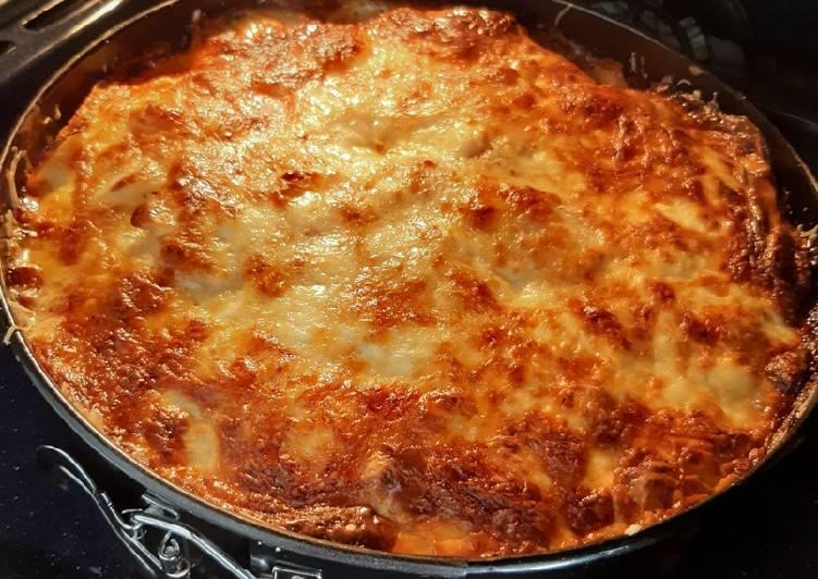 Lasagnes ou gratin de patates, courgettes et comté