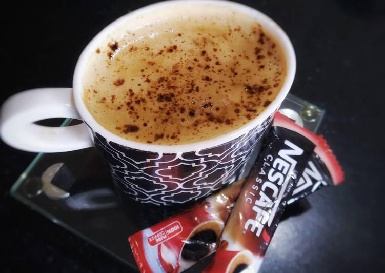 Homemade cappuccino