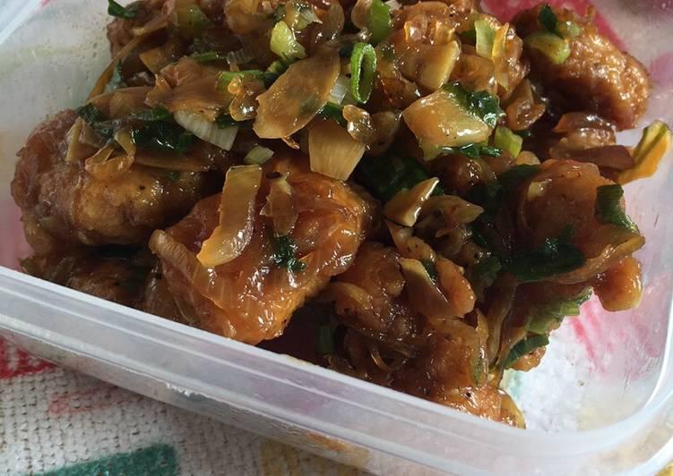 Ayam fillet krispi saus teriyaki